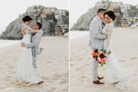 Sandos Bride & Groom at Pedregal Los Cabos Wedding