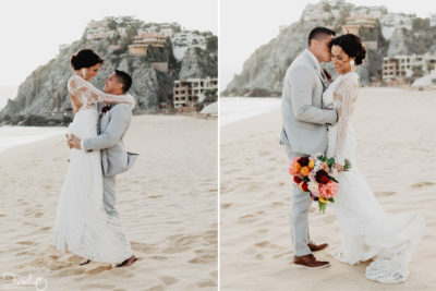 Sandos Bride & Groom at Pedregal Los Cabos Wedding