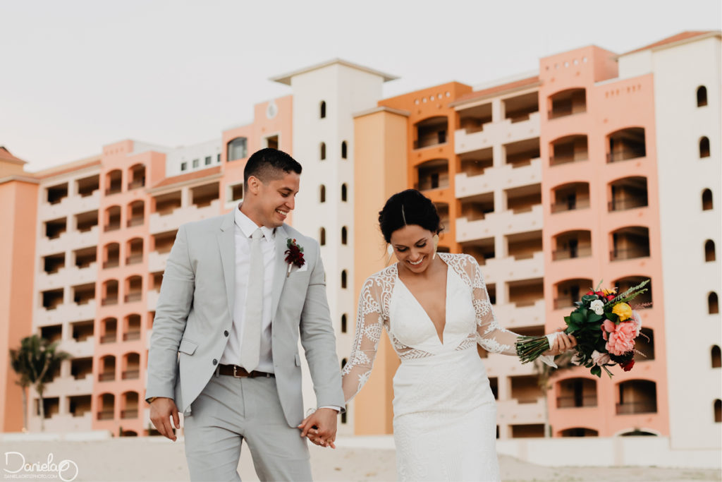 Beach wedding at Sandos Finisterra Los Cabos