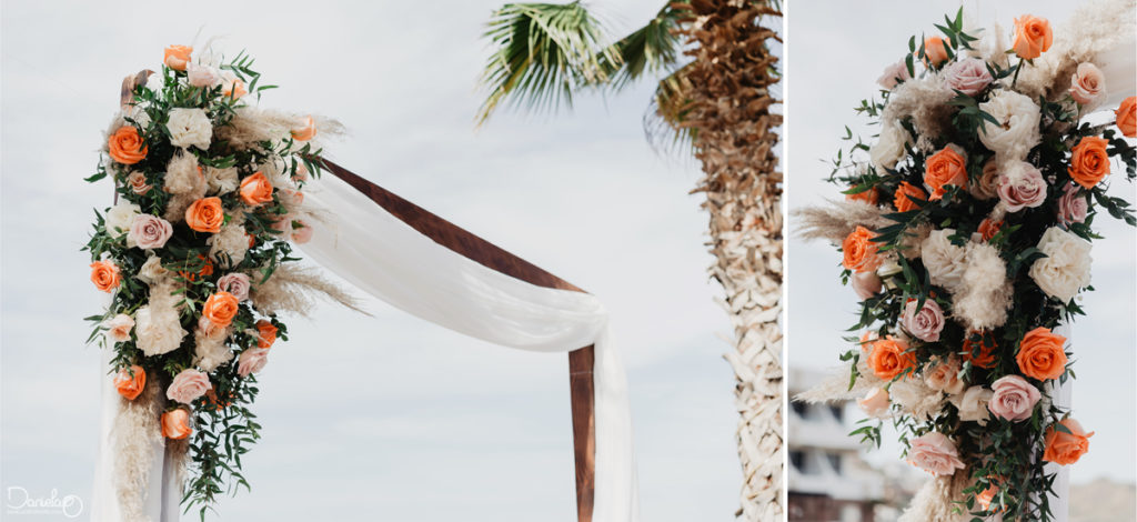 Beach destination wedding decoration