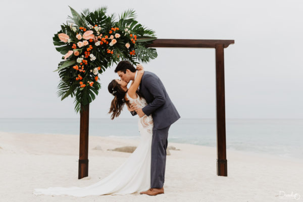 Beach Ceremony Destination Wedding Mar del Cabo Photographer