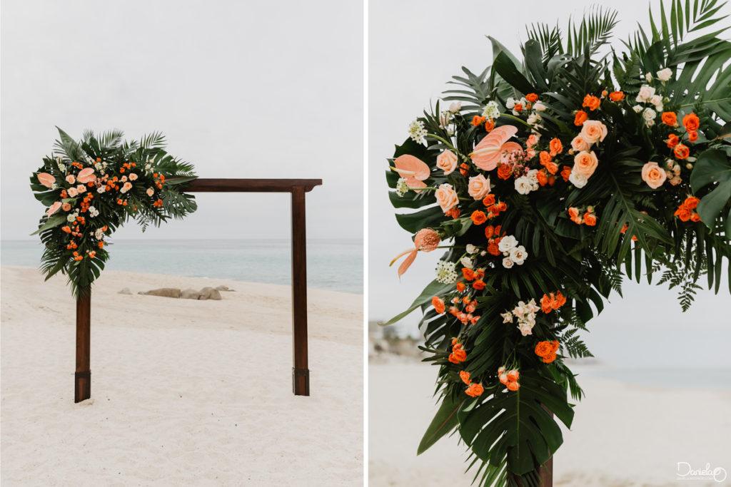 Decoration Flowers Destination Wedding Mar del Cabo Photographer