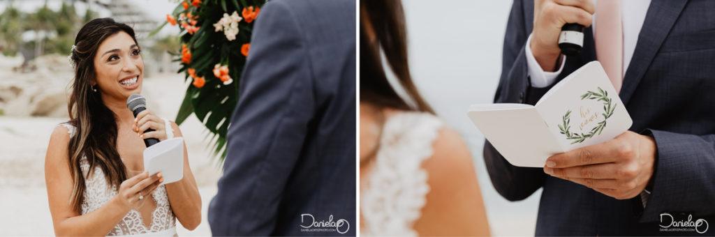 Bride Groom Ceremony Destination Wedding Mar del Cabo Photographer