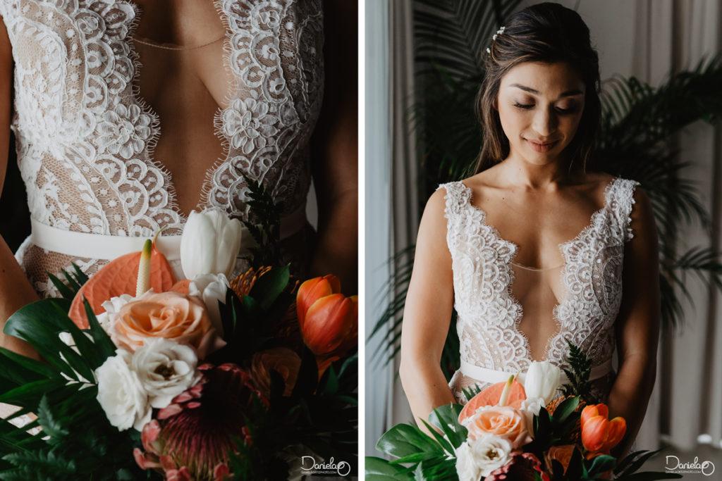 Dress Bride Destination Wedding Mar del Cabo Photographer
