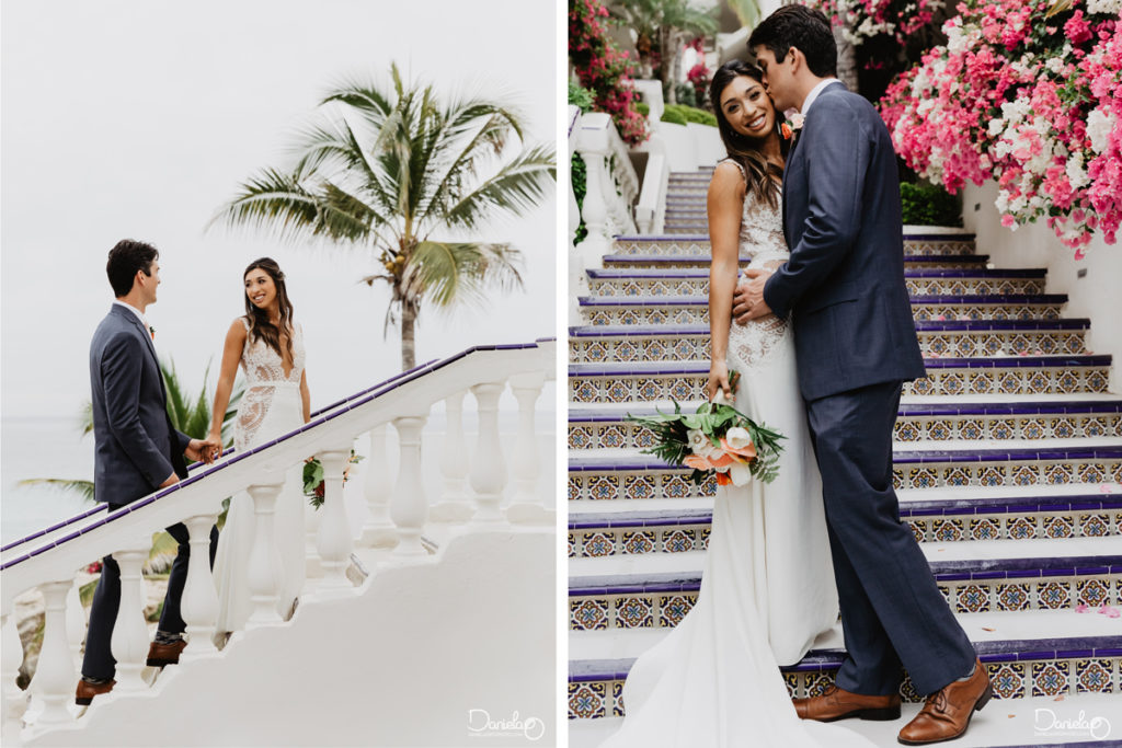Bride Groom Destination Wedding Mar del Cabo Photographer