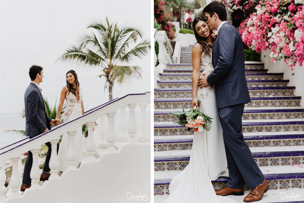 Bride Groom Destination Wedding Mar del Cabo Photographer
