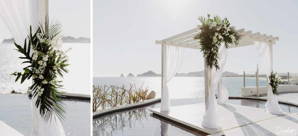 Wedding decoration Sunset Monalisa Cabo Mexico Photographer