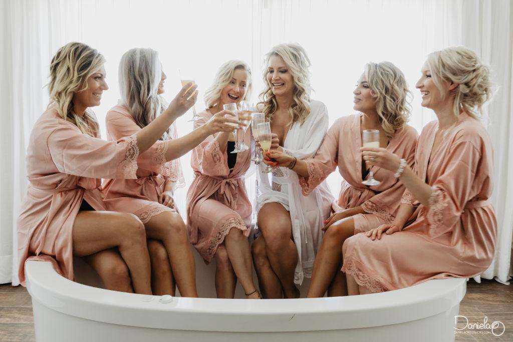 Destination Wedding Bridesmaids Bride - Cabo Wedding Photographer