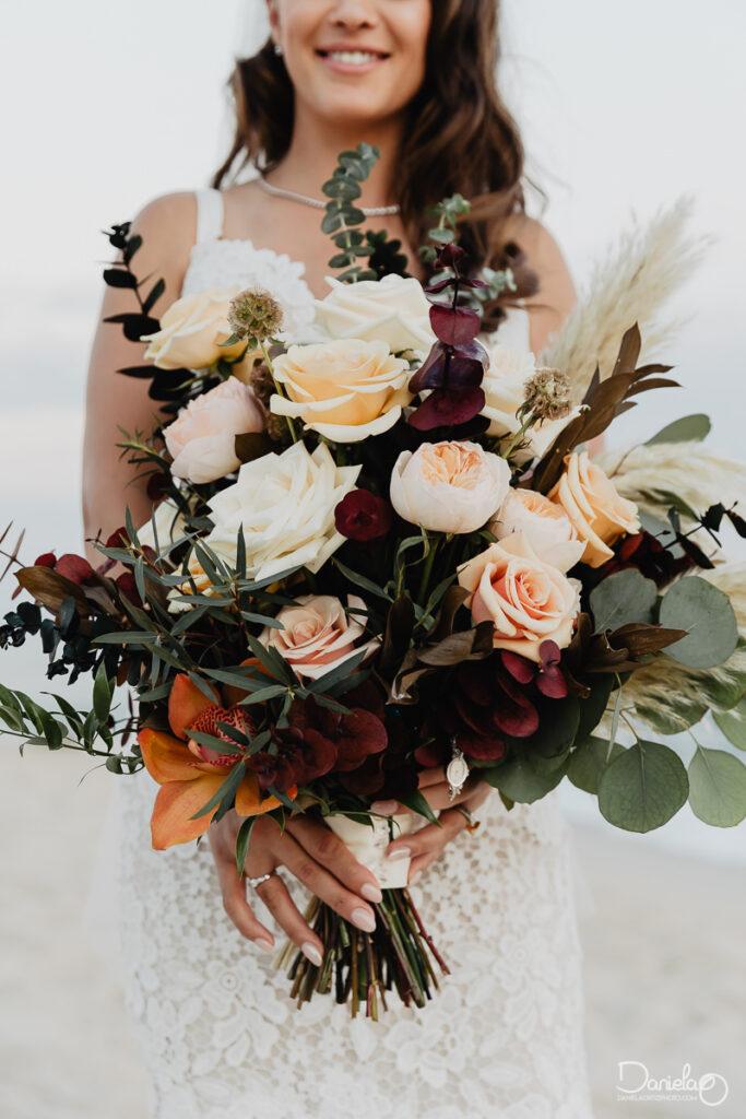 Los Cabos Boho wedding bouquet