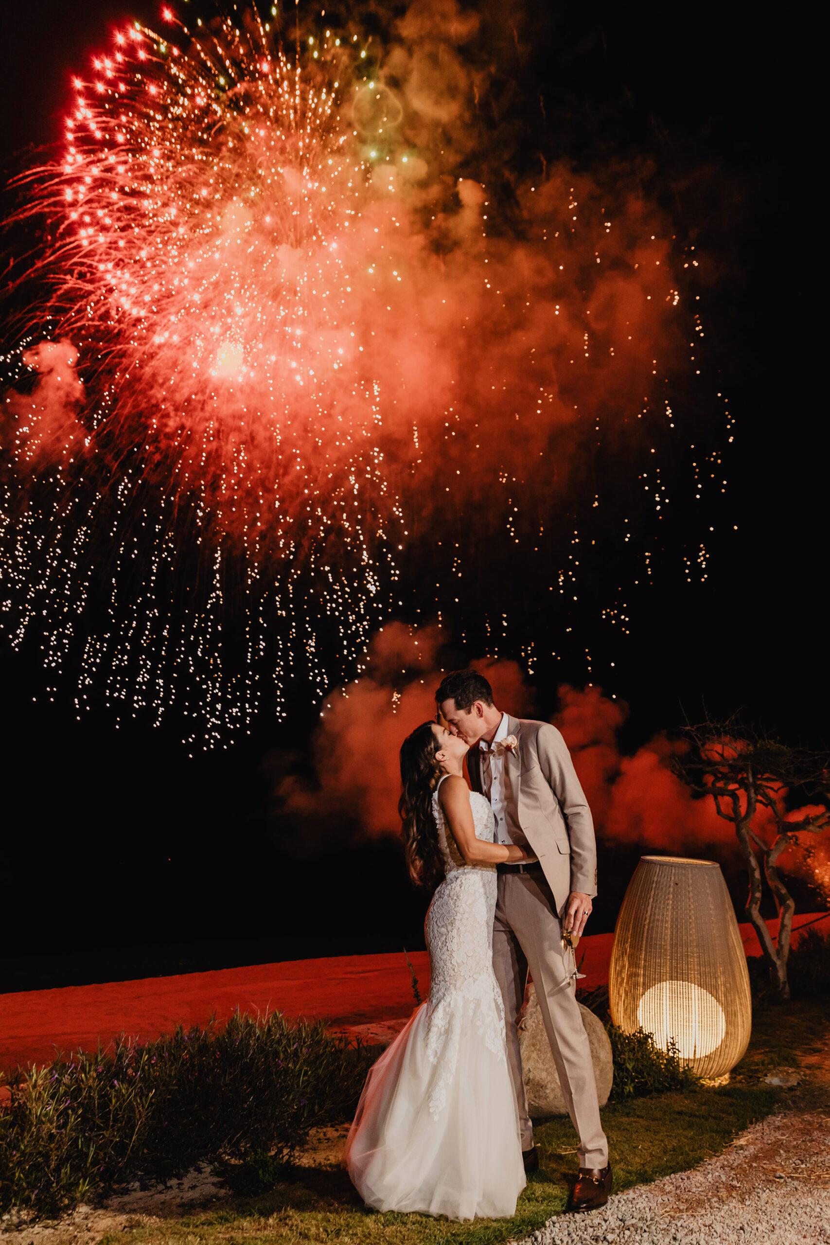 Fireworks Los Cabos Boho wedding