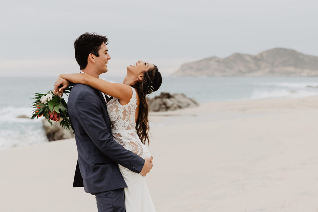 Just married at Mar del Cabo Cabo San Lucas