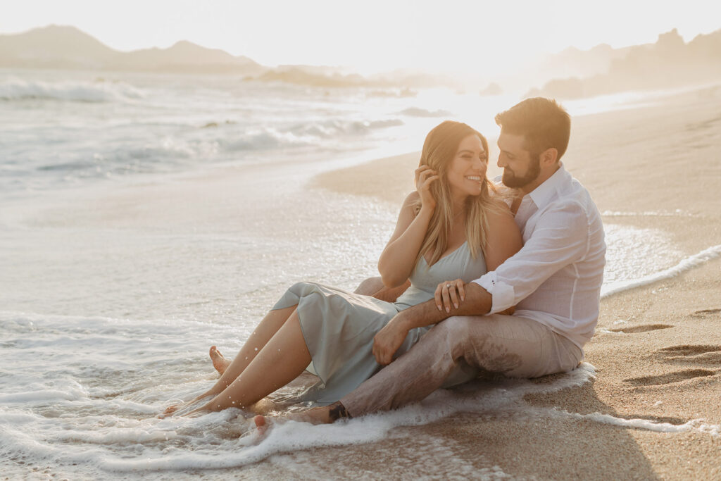 romantic photo session by the beach