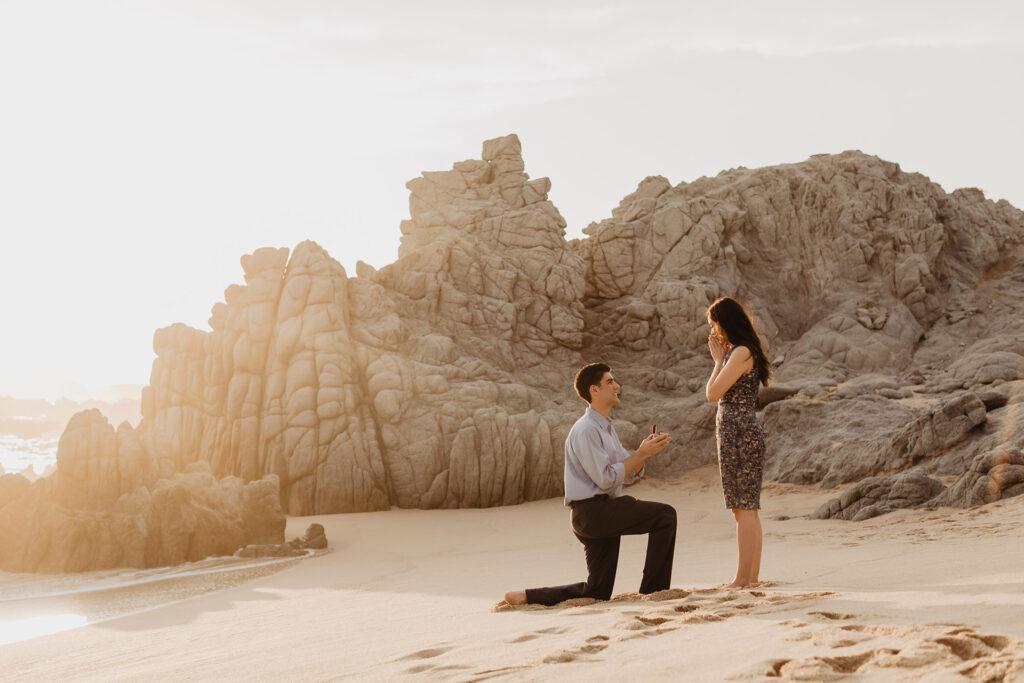 Cabo wedding surprise Proposal