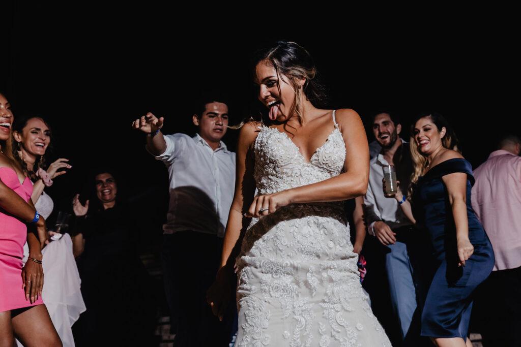 Bride dancing Sandos Cabo San Lucas
